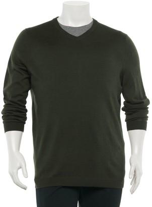 Apt. 9 Big & Tall Regular-Fit Merino V-neck Sweater