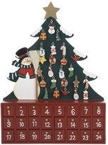 Kurt Adler Wooden Snowman with Tree Advent Calendar