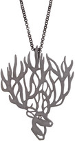 Agrigento Designs Deer Pendant Necklace in Rhodium