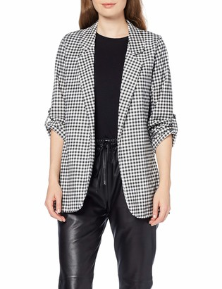 New Look Women's Gingham Scuba Suit Jacket