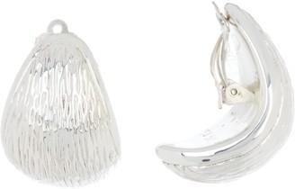 Simon Sebbag Sterling Silver Textured Oval Clip-On Earrings