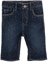 Levi's Toddler Girl Charlene Glitter Pattern Denim Bermuda Shorts
