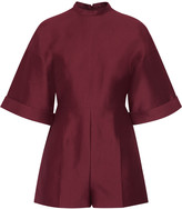 Valentino Cotton and silk-blend playsuit