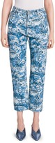 Off-White Off White Hi-Rise Tapestry Printed Jeans