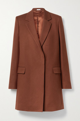 Acne Studios Wool And Cotton-blend Twill Coat - Brick