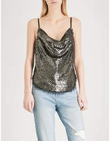 KENDALL + KYLIE KENDALL & KYLIE Draped sequinned camisole