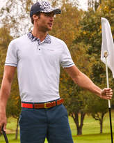 Ted Baker Printed collar golf polo shirt