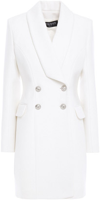 Balmain Double-breasted Wool And Cashmere-blend Felt Coat