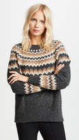 Vince Fair Isle Raglan Sweater