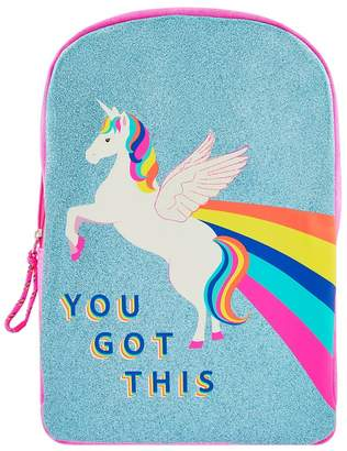 Angels By Accessorize Girls Accessorize Multi You Got This Retro Unicorn Backpack - Black