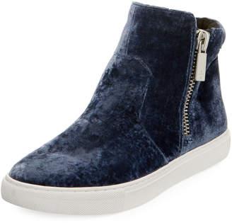 Kenneth Cole Kiera Velvet High-Top Sneakers