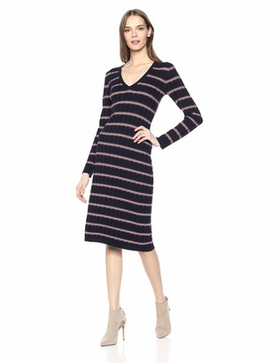 The Fifth Label Women's Gravitation Vneck Long Sleeve MIDI Easy Knit Dress