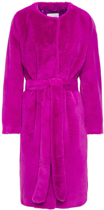 Stand Studio Adina Belted Faux Fur Coat