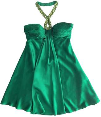 Basix II Green Silk Dress for Women