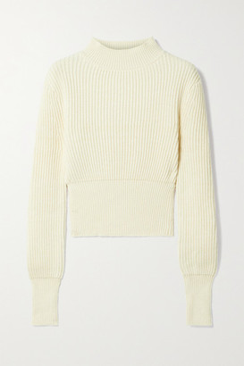 Apiece Apart Dios Ribbed Cotton And Cashmere-blend Sweater - Cream