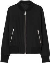 Ami Teddy Black Wool Bomber Jacket