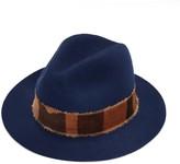 Justine Hats Blue Felt Fedora