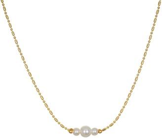 Lauren Conrad Triple Simulated Pearl Choker Necklace