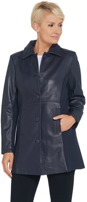 Linea By Louis Dell'olio by Louis Dell'Olio Long Lamb Leather Jacket
