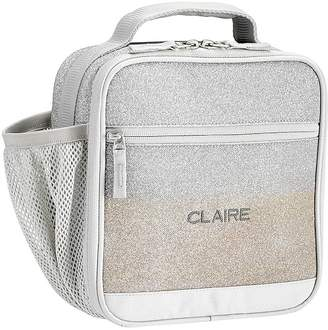 Pottery Barn Kids Mackenzie Silver/Gold Ombre Sparkle Glitter Lunch Boxes