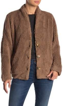 HYFVE Fuzzy Dolman Sleeve Coat