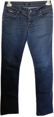 Gianni Versace Blue Cotton - elasthane Jeans for Women