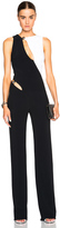 Thierry Mugler Bi Color Fitted Cady Jumpsuit