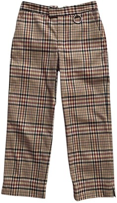Nomia Brown Cotton Trousers for Women
