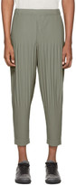 Issey Miyake Homme Plisse Grey Tapered Bottom Trousers