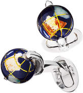 Jan Leslie Spinning Lapis Inlay Globe Cuff Links