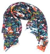 La Fiorentina Women's Scarf With Floral Pattern.
