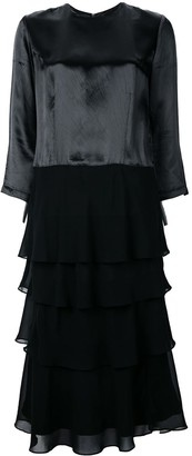 Comme des Garcons Pre-Owned three-quarter sleeves layered dress