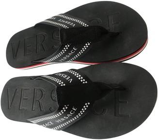 Versace Black Plastic Sandals