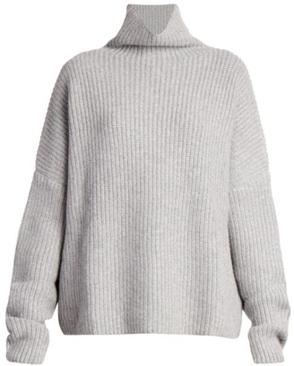 LOULOU STUDIO Roscana Ribbed Cashmere Turtleneck Knit Sweater