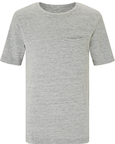 John Lewis Childrens' Long Waffle T-Shirt, Grey