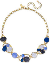 Kate Spade Gold-Tone Blue Stone Cluster Collar Necklace