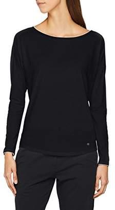 Marc O'Polo Body & Beach Women's Mix W-Shirt LS Crew-Neck Pyjama Top, White 2, UK