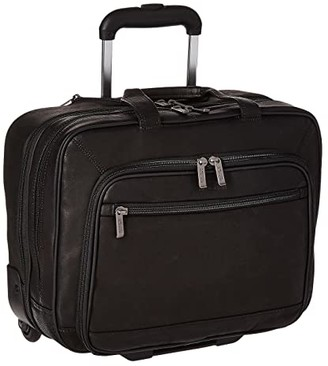 Kenneth Cole Reaction Wheel Be Okay - Wheeled Leather Porfolio (Black) Computer Bags