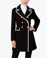 INC International Concepts Petite Piped Double-Breasted Coat, Only at Macy's