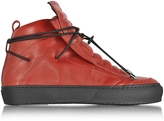 Ylati Ulisse Red Leather High Top Sneaker