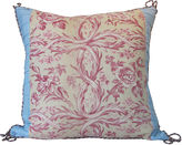 One Kings Lane Vintage 1920s English Printed Linen Pillow