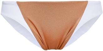 Tori Praver Swimwear Maelyn Two-tone Low-rise Bikini Briefs