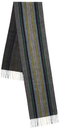 Paul Smith College Stripe Wool Scarf