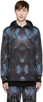 Marcelo Burlon County of Milan Black and Blue Potosi Windbreaker Jacket