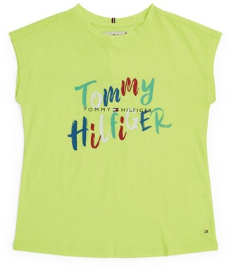 Tommy Hilfiger Junior Logo On Logo T-Shirt (4-16 Years)