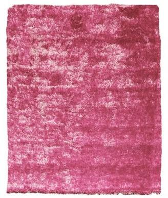 Home Mart Goods Reversible Soft Solid Handmade Shag Light Pink Area Rug Home Mart Goods Rug Size: Rectangle 2' x 5'