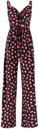 MICHAEL Michael Kors Petal Matte Jersey Tie-front Jumpsuit