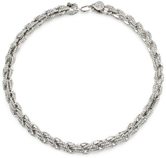 Fallon Armure Rope Chain Pave Necklace