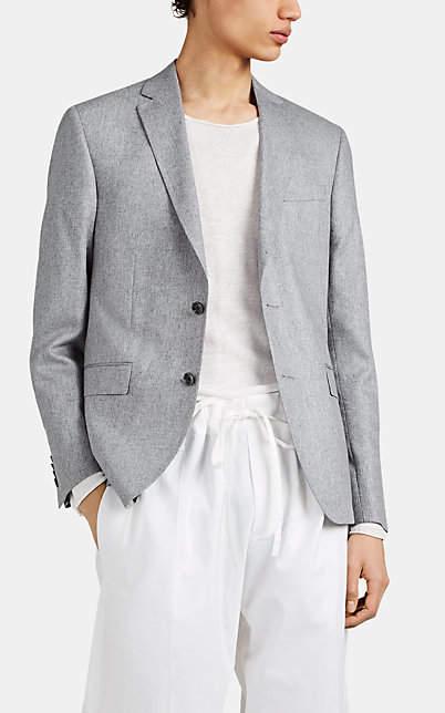 Barneys New York Men's Silk Tweed Sportcoat - Gray