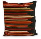 Geometric Wool Striped Cushion Cover, 'Andean Dream'